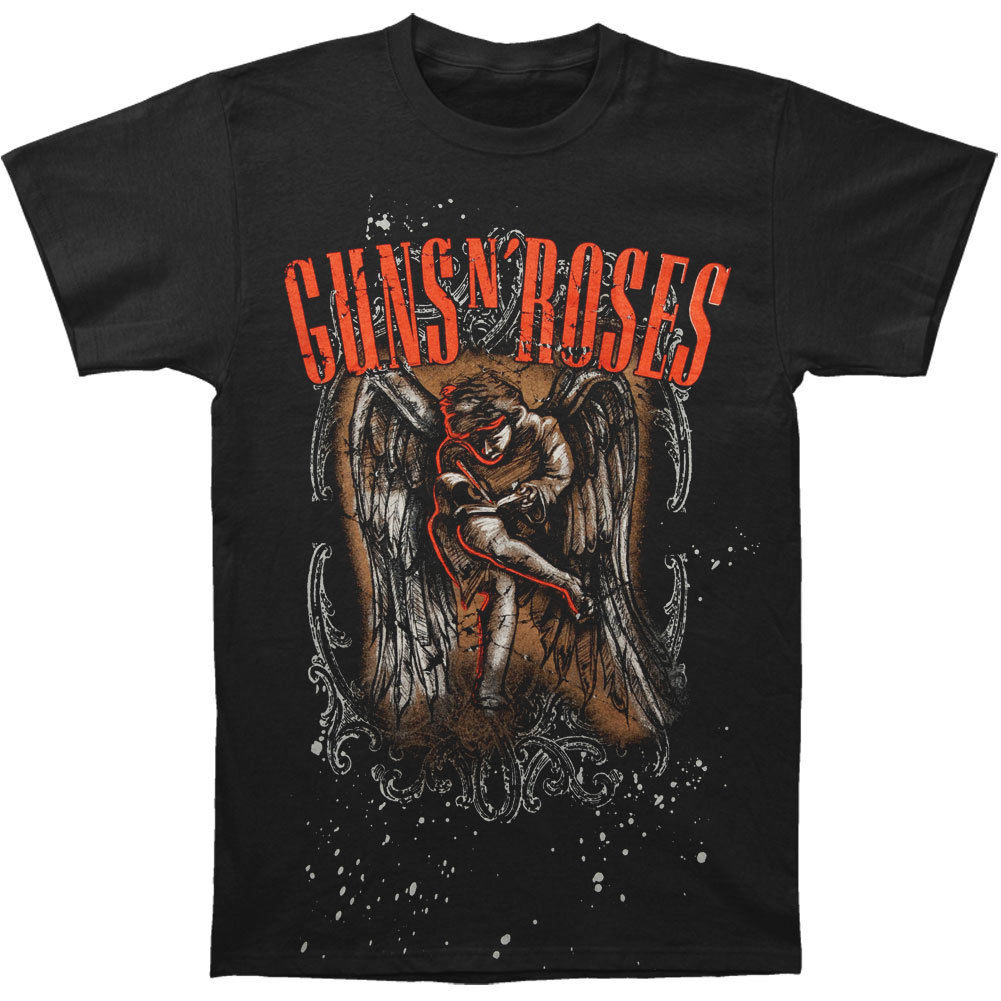 Guns N Roses MenS Sketched Cherub T Shirt Small Black