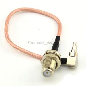 Image 3 - 100 חתיכות RF מחבר F כדי CRC9 כבל F נקבה כדי CRC9 בזוית RG316 RG174 צמת כבל 15cm