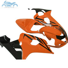 Motorräder Verkleidungen set für SUZUKI GSXR600 R750 2004 2005 ABS verkleidung kit 04 05 GSXR750 GSXR 600 K4 K5 orange schwarz DZ56