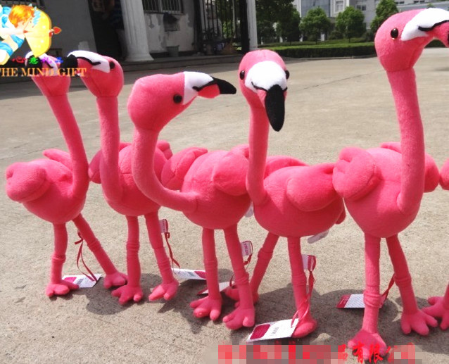 Kawaii Pink Flamingo Cute Soft Simulation Animal Stuff Plush Toy Doll Birthday Gift Home Decoration
