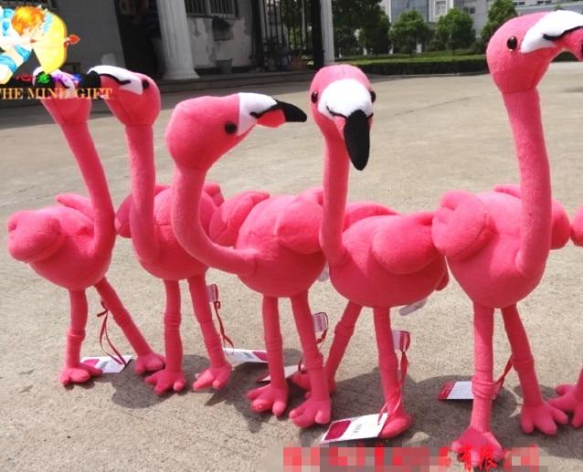 Kawaii Pink Flamingo Cute Soft Simulation Animal Stuff Plush Toy Doll Girl Birthday Gift Home Decoration