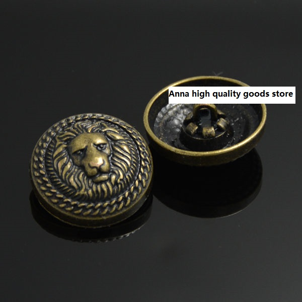 Free Shipping 30pcs/lot 22mm Bronze Color Button High-grade Metal Lion Hand Sewing Button Coat Sweater Garment Accessories Skilful Manufacture Buttons