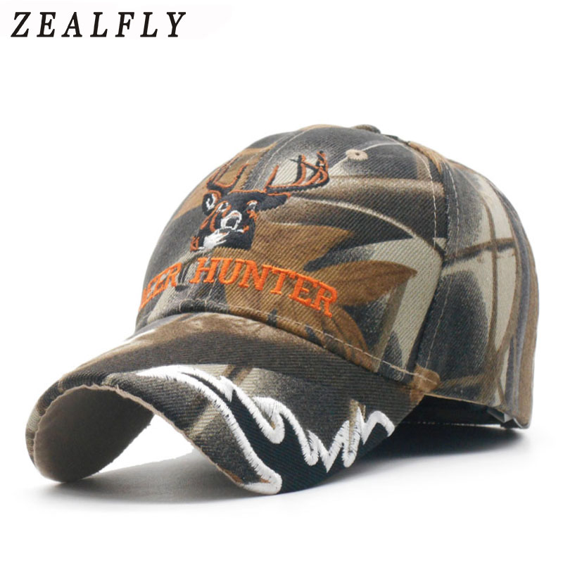Deer Mens   Caps   Camouflage Hunting Men   Baseball     Cap   Snapback Hat For Women Casual   Cap   Bone Casquette Homme Embroidery Gorras