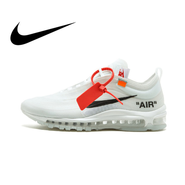 Original authentic Nike Air Max 97 OW men's running shoes sports shoes sports outdoor quality and comfortable AJ4585-100