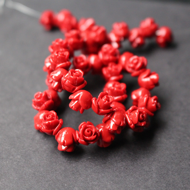 """7-8mm Natural Orange Round Coral Loose Beads for Jewelry Making Strand 15/"""" l660"""