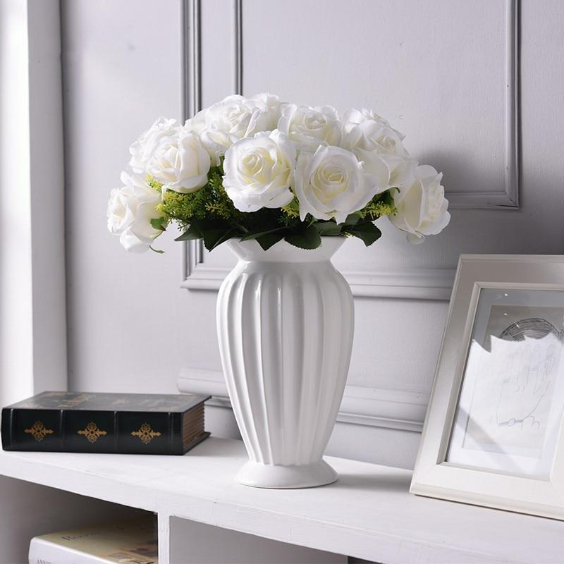 Moderne Minimalistischen Europa Stil Keramik Blume Vase Ornamente