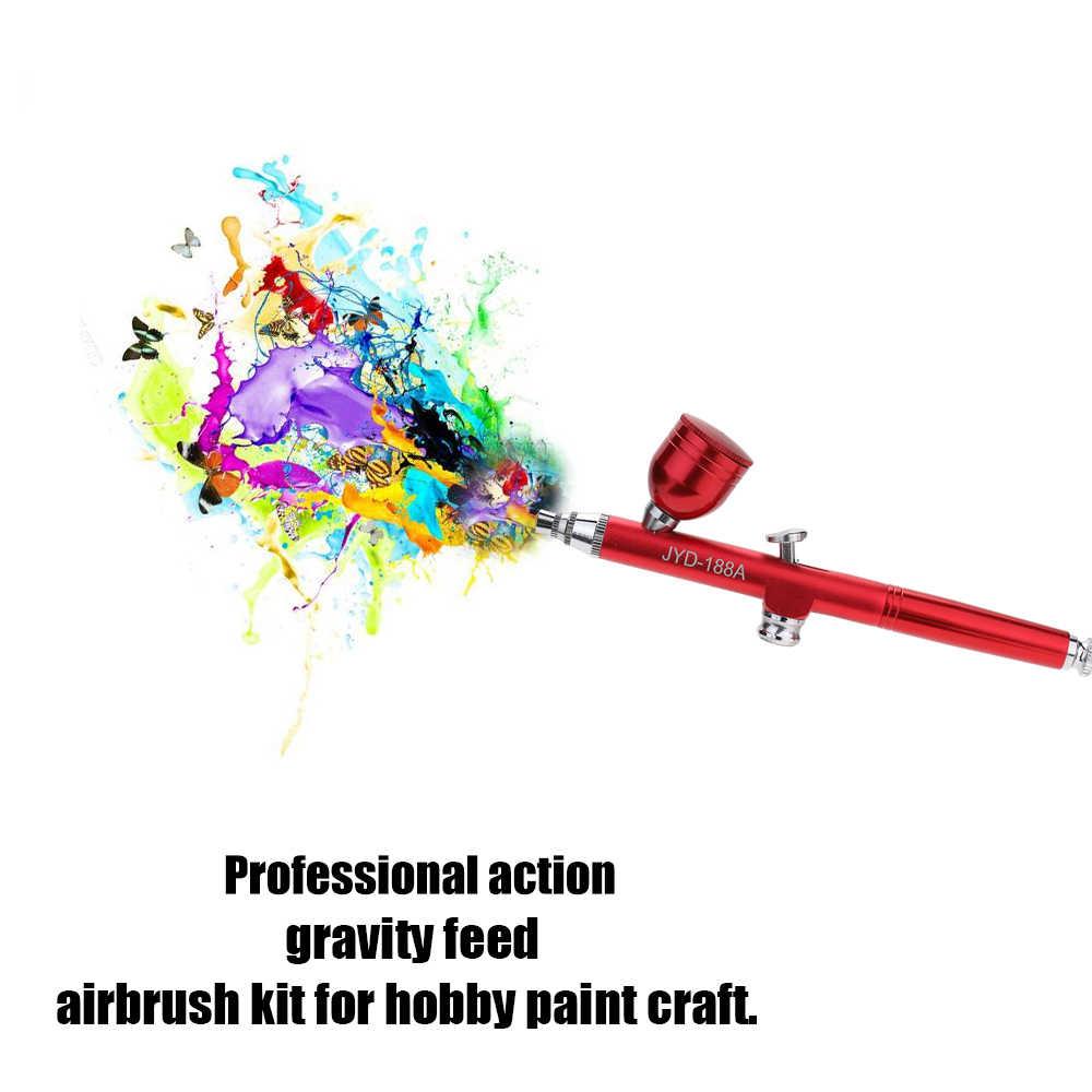 Mini PISTOLA DE PULVERIZACIÓN portátil conjunto de compresor de aire para pistola de pintura para pintura de uñas modelo
