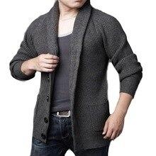 Мужской свитер, пальто размера плюс, кардиганы, Мужской Повседневный свитер, толстый теплый осенний зимний мужской однобортный Кардиган, Masculino