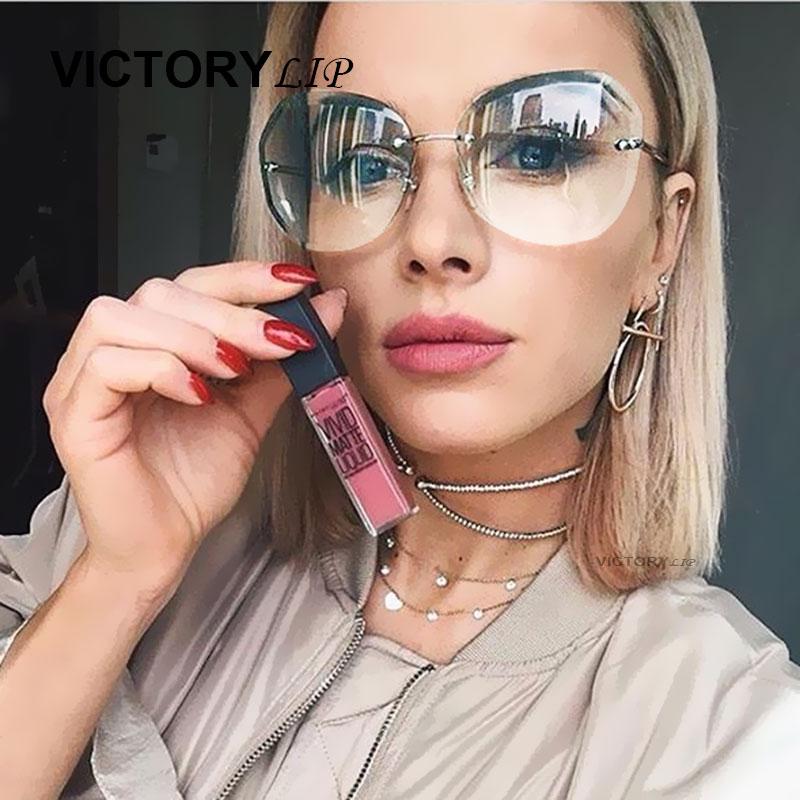 VictoryLip Women Sun Glasses Irregular Transparent 2017 Oversized Gradient Brand Designer sunglasses Lady Big Clear Mirror Gafas