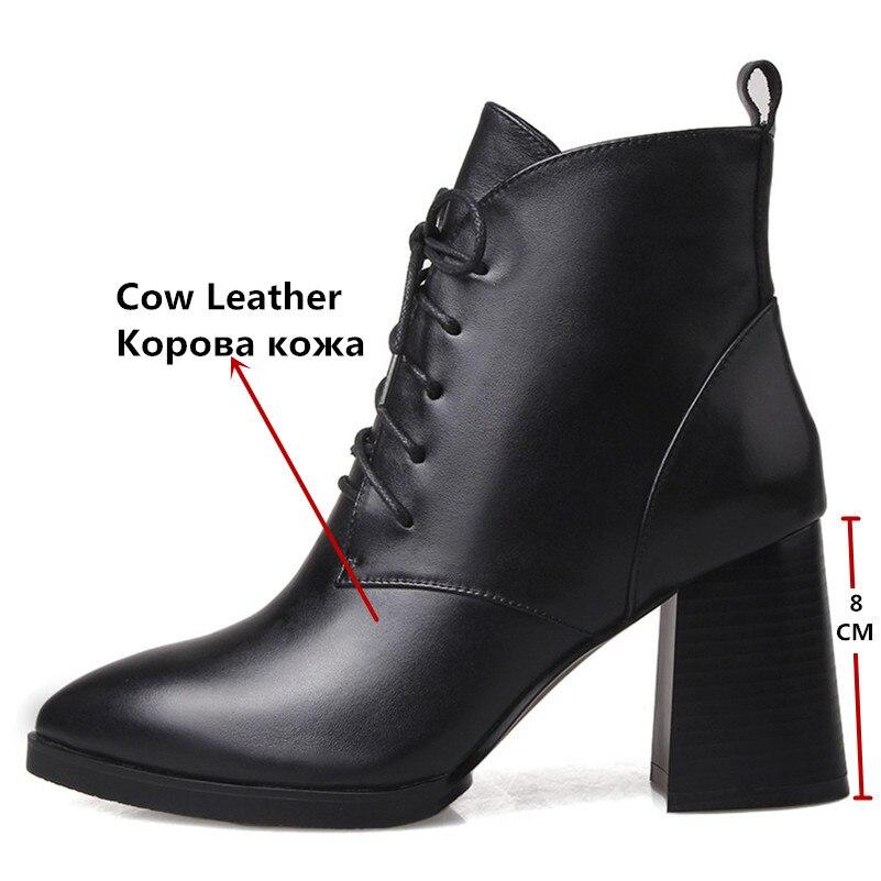 Talons Pompes Cuir Cheville Conasco Bureau courtes Vache Femme Bottes En Mode Souple Chaussures Martin Hauts Corss Noir Femmes Liées RnqTqXB