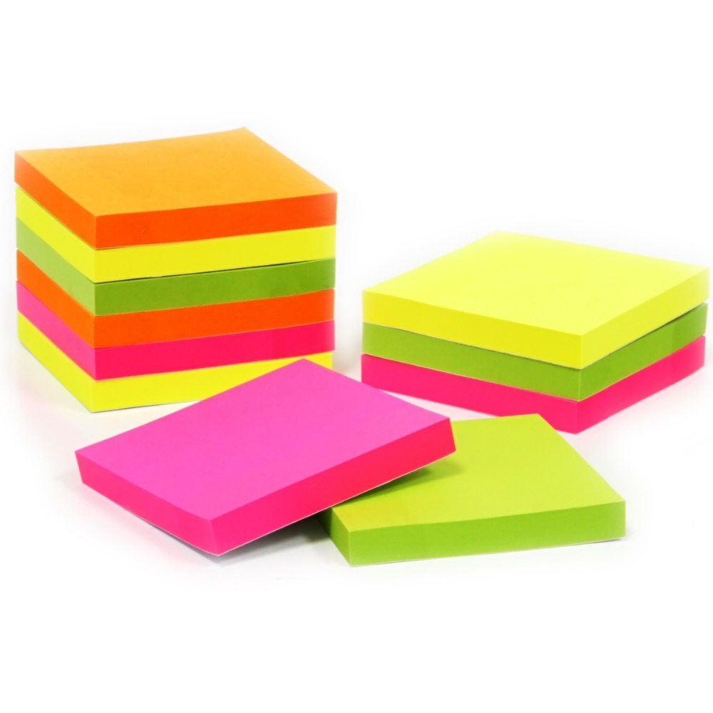 4pcs/set 100 sheets Korean Sticky Notes Creative Post Notepad Filofax Memo Pads Office Supplies School Stationery Scratch
