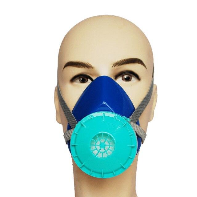 Анти-респиратор респиратор PM2.5 синий силиконовый фильтр хлопком против анти-респиратор респиратор дым промышленной безопасности защиты маски