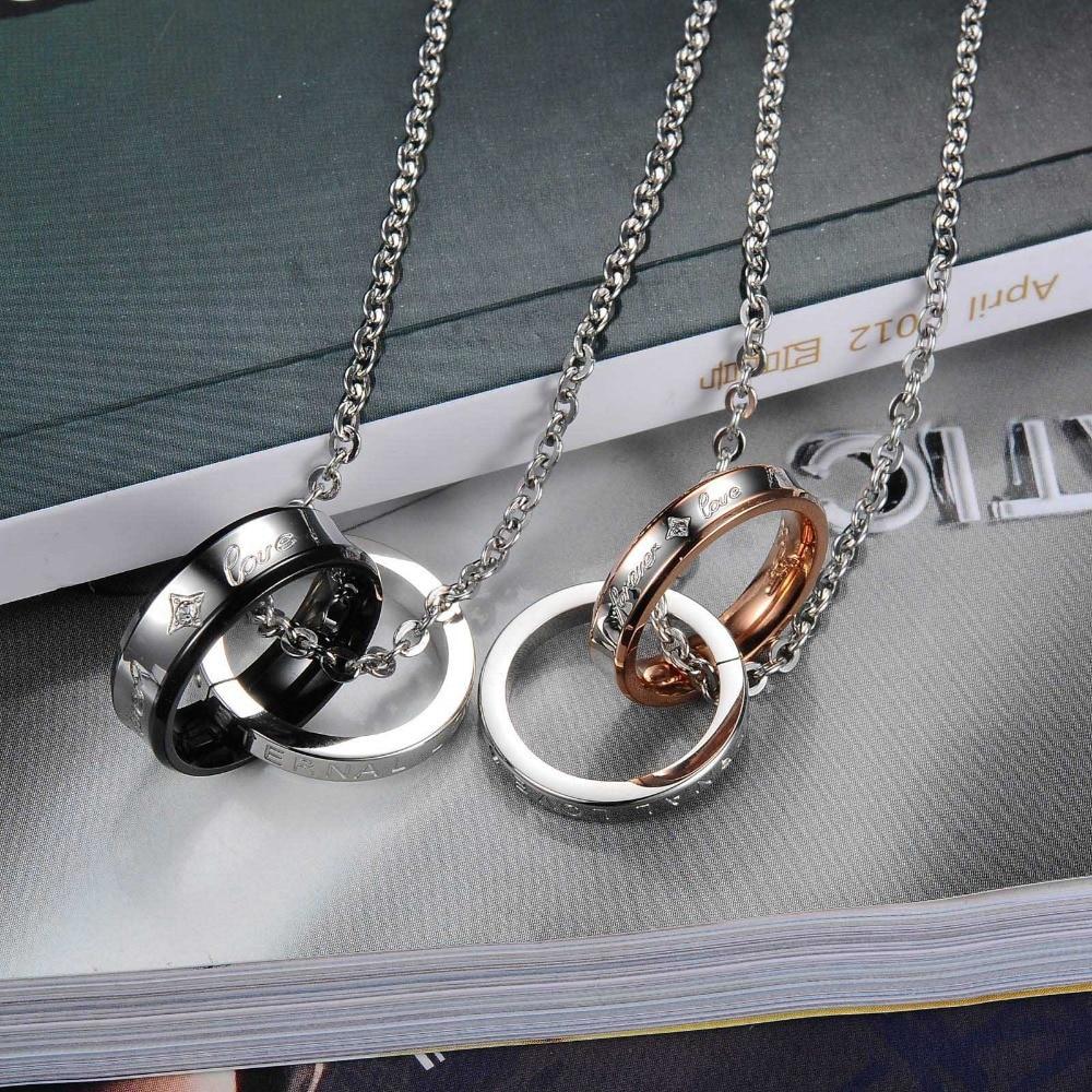 Couple Necklace Set Retro Design FOREVER LOVE 3