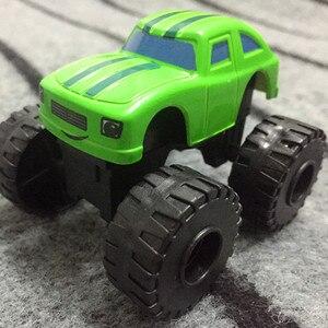 Image 4 - Blaze jouet de course automobile, voitures de course, sacs de course pour enfant, sacs de course, camions, figurines daction, sacs OPP, cadeau pour enfant 6 pièces