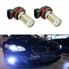 2x супер белый H8 H11 CREE чип 2835 Светодиодный Туман дальнего света лампы для BMW E39 325 328 М мини спорт