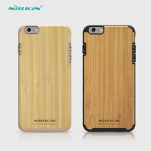 Nillkin original knights bamboo Phone cases for iphone 6 plus Natural wooden Retro Slim Hard PC hard Back Cover for iphone 6 s