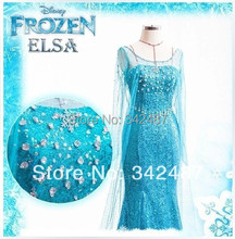 Nueva llegada anime cosplay Por Encargo Película Cosplay Princesa Elsa Dress Adultos cosplay