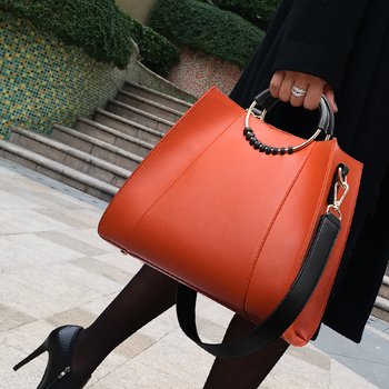 New women's bag European and American fashionable big bag shopping bag high end women's bag single shoulder diagonal package