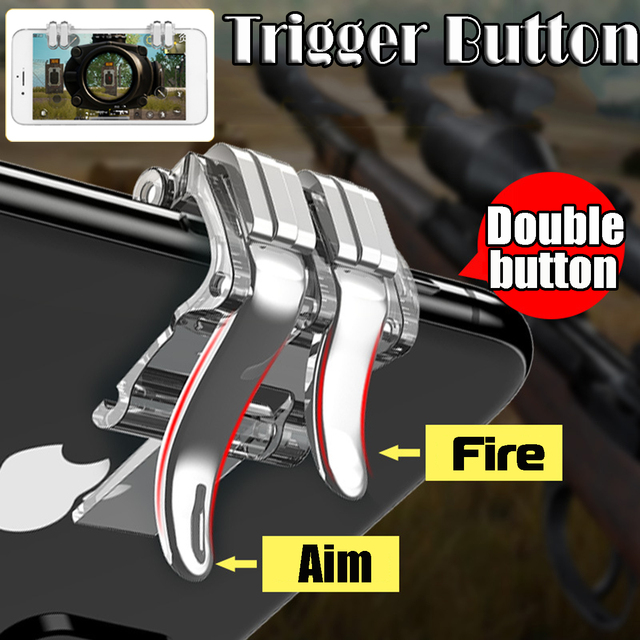For PUBG Mobile Phone Game Joystick Gamepad Metal Gaming Trigger Button Aim Key Smartphone Shooting Shooter Controller