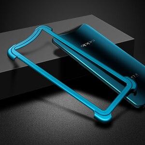 Image 4 - OATSBASF Luxury Metal Frame Shape Shockproof Case For OPPO Find X Protect Case Push pull design Back Phone Cover Case Bumper