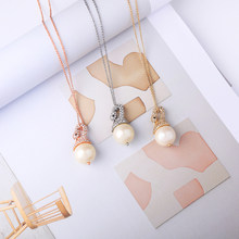 3 Color Crystal Swan Thin Chain Necklace Gold Silver Rose Gold Engagement anniversary Birthday Gift 2019 Factory Outlet In Box(China)