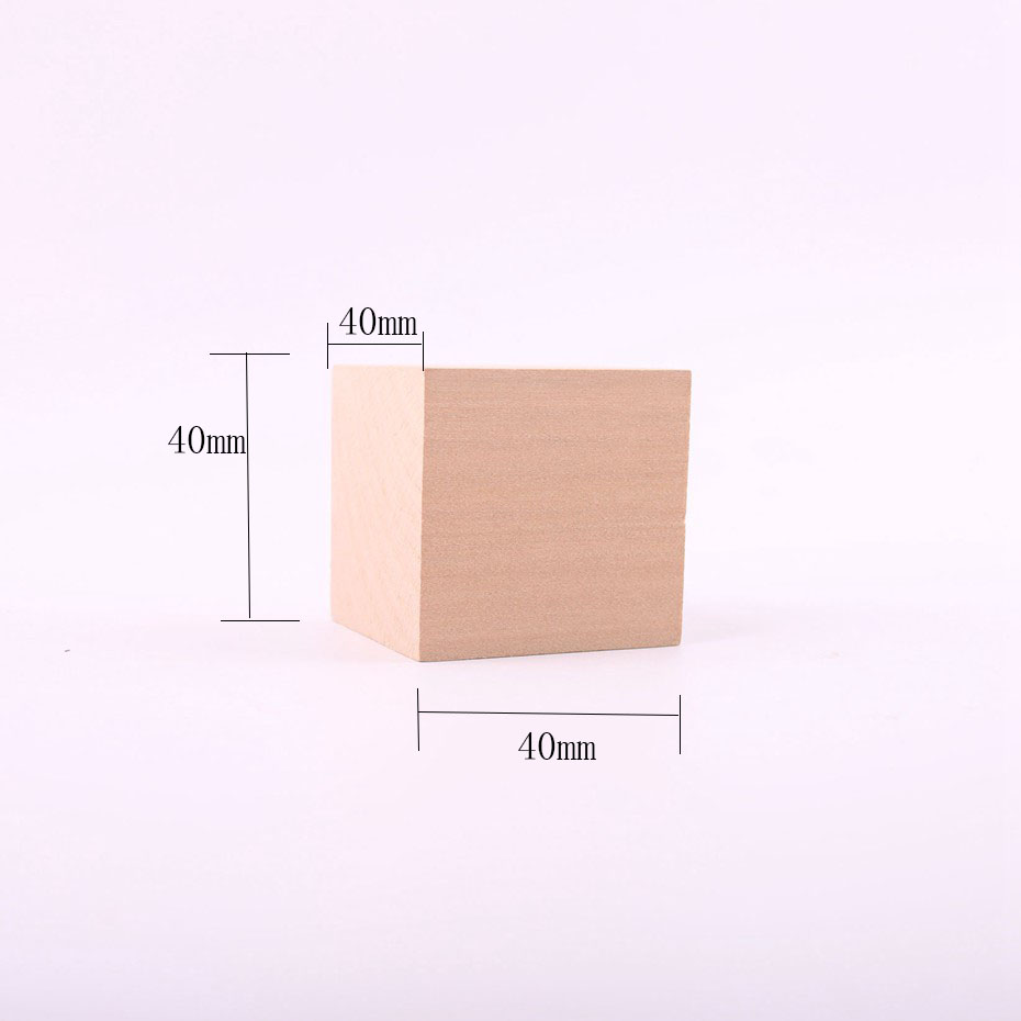 15pc/lot Unfinished Wood Blocks - 1.6 inches Wooden Block Cube carving block DIY Crafts Toys Montessori Toys ...