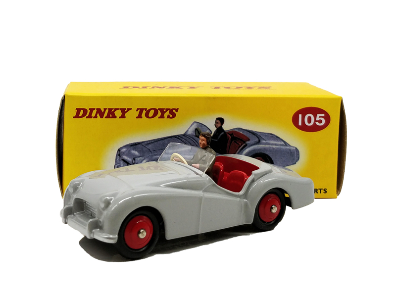 1:43 Atlas Dinky Toys Triumph TR2 Sports Diecast Model Car цена