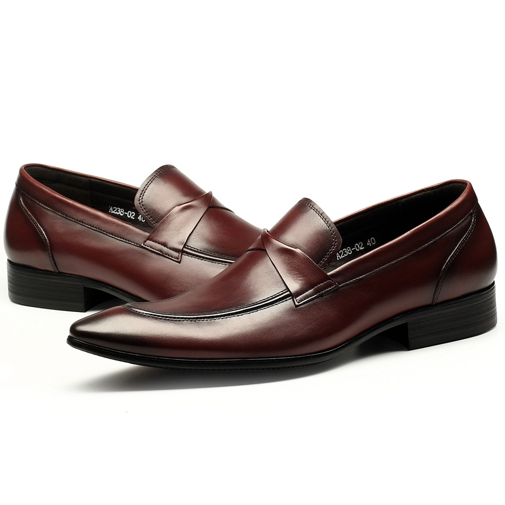Haute Hotsale up De Casual Black wine En Véritable Richelieu Cuir Confortable Dentelle Hommes Gentleman Chaussures Qualité ItxvqOf