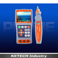 Handheld 3.5 LCD Monitor CCTV Tester For CCTV Security Camera Video Audio PTZ UTP Testing Wire Receiver Tracking with Multimeter