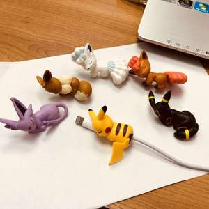 Yellow Little Pet Shop Toys For Kids Christmas Cute Bite Animal Cable Protector Toys