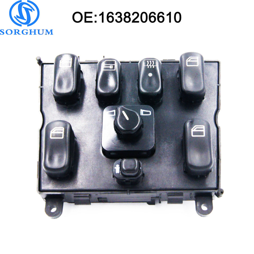 New 1638206610 A1638206610 Power Window Master Switch for 1998-2005 Mercedes-Benz ML320 W163 ML400 ML430 ML500 A 163 820 6610 power window lifter switch for mercedes benz actros mpii 9438200097