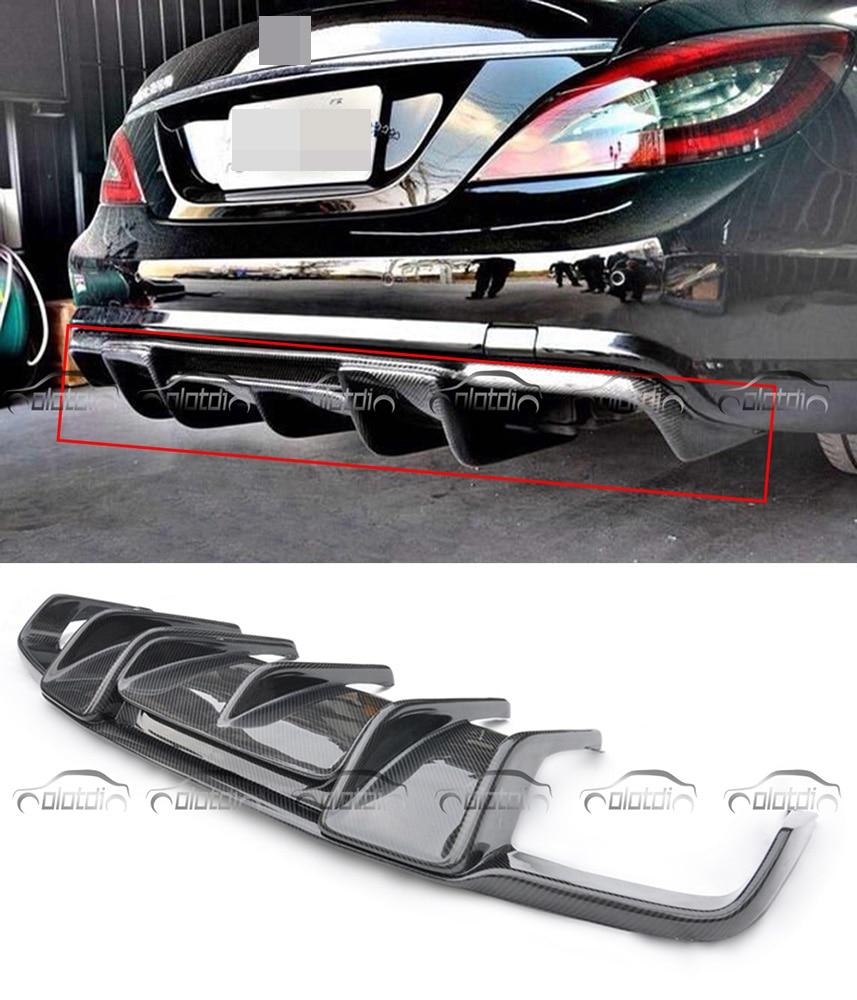 Car Styling W218 AMG Renntech Style Fiber De Carbone Pare-chocs Arrière Lip Diffuseur pour Mearcedes Benz W218 CLS350 CLS63 AMG Pare-chocs 2011-2