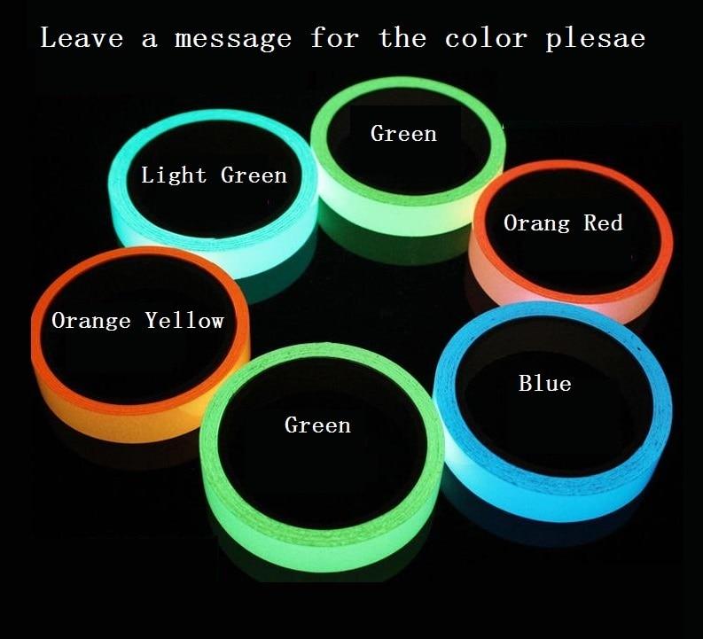 1.5cm*1M Blue Green Light Green Stored Luminous Tape Self-adhesive Glowing Night /Dark Safety Stage Striking Warning Safety Tape