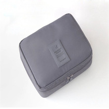 Fashion New Arrivals 2016 Solid Multifunction Makeup Bag Zipper Polyster Cosmetic Case Travel Bag Handbag  Women Men