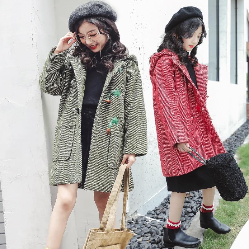 399e018112f 2018 Baby Girl Clothes Children s Winter Thickening Woolen Coat Toddler  Girl Warm Jackets 4 5 6
