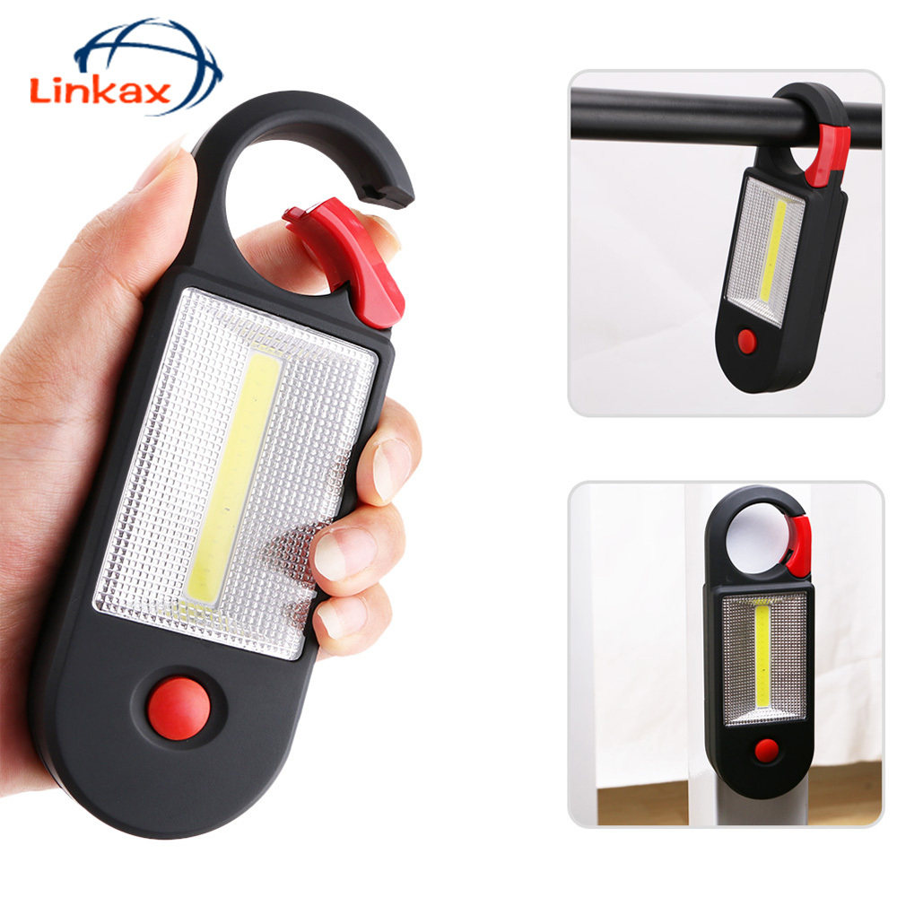 Portable COB LED Working Light 2 Modes Inspection Flashlight with Strong Magnetic Hook Camping Flashlight