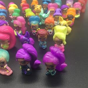 Image 5 - 20 pièces/lot miroitant Figure jouet en plastique Mini Action modèle jouet pour filles jouet cadeau