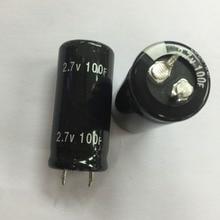 12PCS high quality Super Capacitor 2.7V 100F 2.7v100f 22*45mm 25*50mm Farad Capacitor