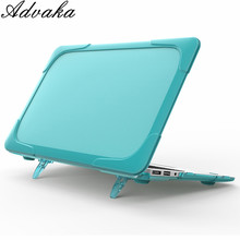 "For macbook Air 11"" A1465 A1370 MD223 MD224 MC505 Double computer protective laptop case PC&PU protective cover"