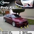 Deflector de Labios Lip Bumper Para Mitsubishi Galant Emeraude Eterna Legnum Aspire MX MF VRG Grunder VRM 380 Spoiler Delantero Falda