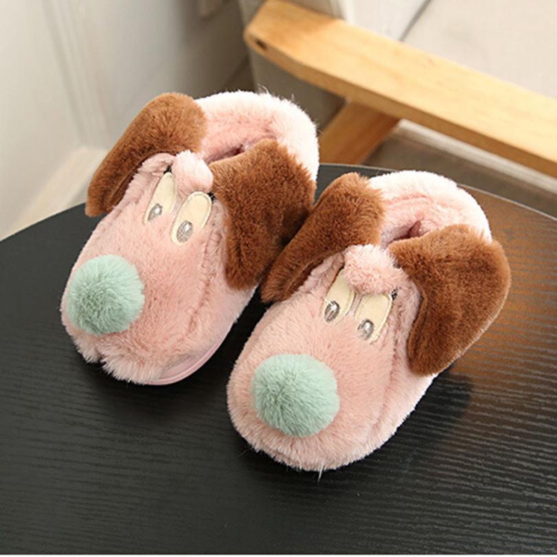 Winter Children Slippers Boys Girls Cotton Sheep Kids Indoor Warm Shoes Newborn Shoes Winter NO1