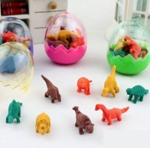 Wholesale study stationery retail great deal,new arrival fashion cute cartoon simulation dinosaur egg eraser. pencil eraser.rubb