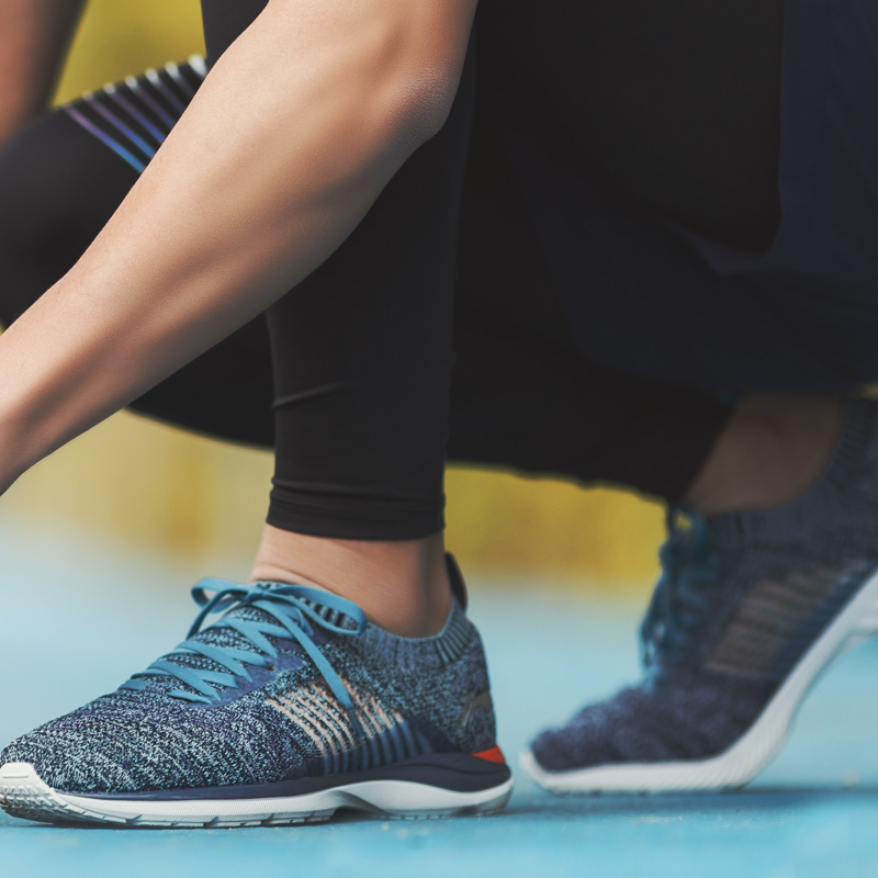 Li-ning hommes Super léger XV chaussures de course léger respirant baskets Mono fil doublure chaussures de Sport ARBN009 XYP652 - 2