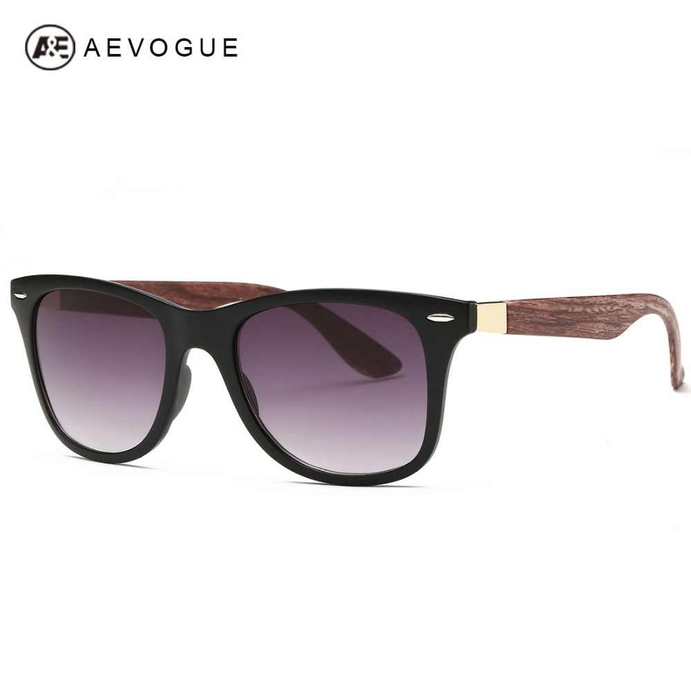 3443bba87ce AEVOGUE Men s Sunglasses Aritificial Wood Grain Temple Brand Design Summer  Style Unisex Sun Glasses Vintage Oculos