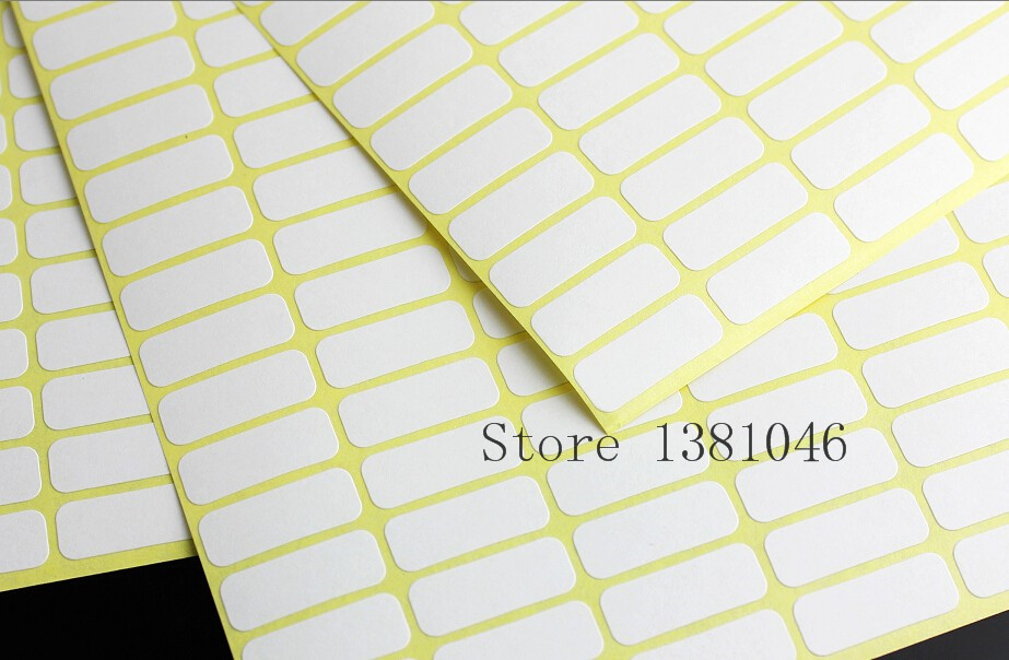 3 To 10 Sheets Plain Small White Sticky Labels Price Stickers Tags 8 x 20mm Blank Self Adhesive matte white a4 kraft paper self adhesive square print label stickers library book shipping labels for laser inkjet printer