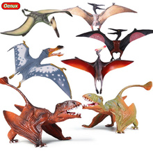 Oenux Original All Kinds Of Jurassic Pterosaur Pterosauria Bird PVC Action Figures Jurassic Dinosaurs Model Toys For Kids Gift
