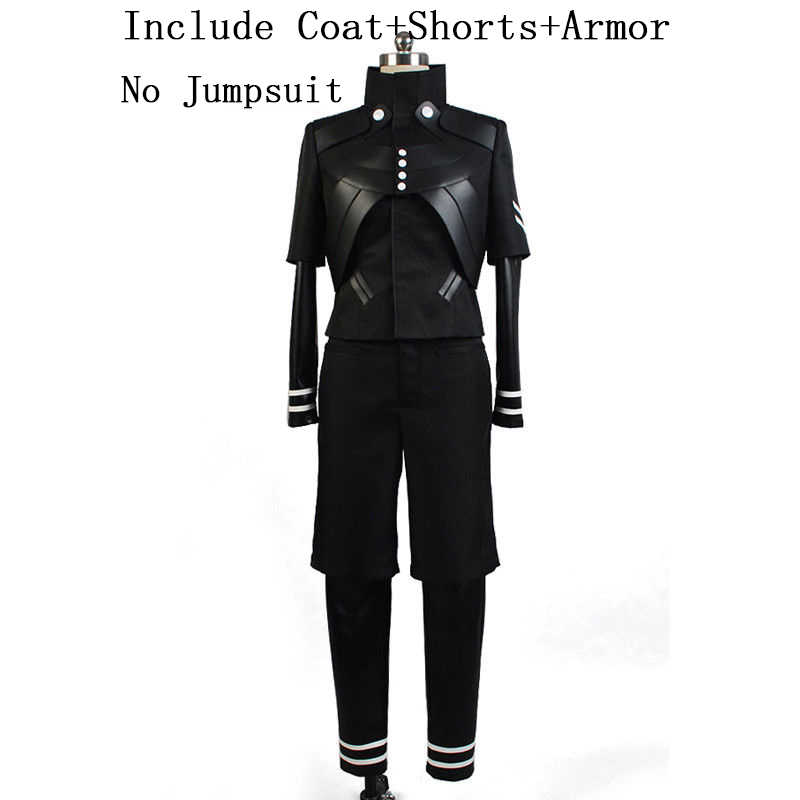 Tokyo Ghoul Kaneki Ken Gugatan Cosplay Costume Full Set Coat + Shorts + Armor Penuh Set