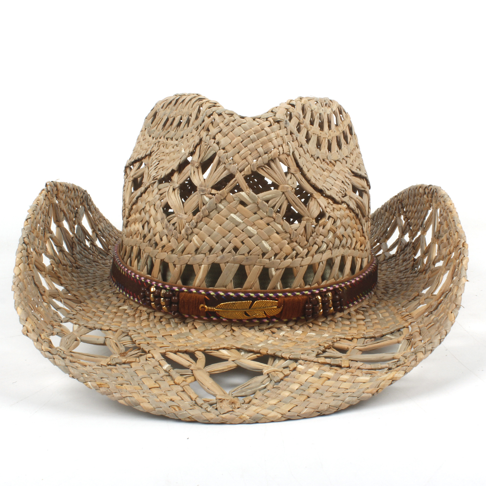 Apparel Accessories Humorous 2019 Women Men Natural Straw Sun Hat Hardmade Weave Western Cowboy Hats For Lady Dad Summer Sun Sombrero Hombre Lifeguard Hats