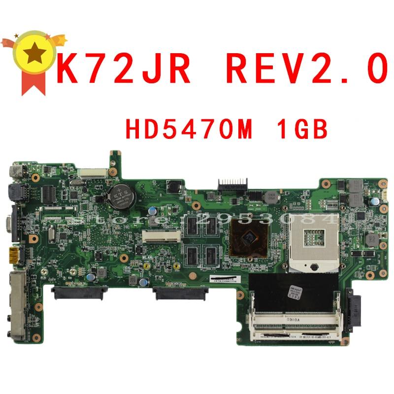 K72JR REV:2.0 motherboard for ASUS K72JU K72JK K72JT K72JR laptop motherboard 1G HM55 PGA989 mainboard 100% working for asus k75de motherboard laptop mainboard qml70 la8371p rev 1a 100