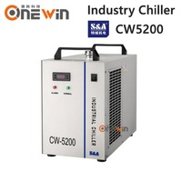 S&A CW5200 industry water chiller for laser engraving machine cooling CO2 laser tube 150W
